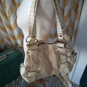 Kooba Ladies Cream Color Soft Pebbled Leather bag